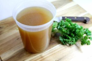 Learn how to make your own chicken stock at home. A great addition to soups and sauces, and it helps reduce waste!