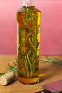 Infuse oils with herbs such as this rosemary infused oil!