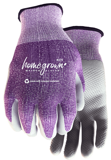 a purple pair of watson gardening gloves